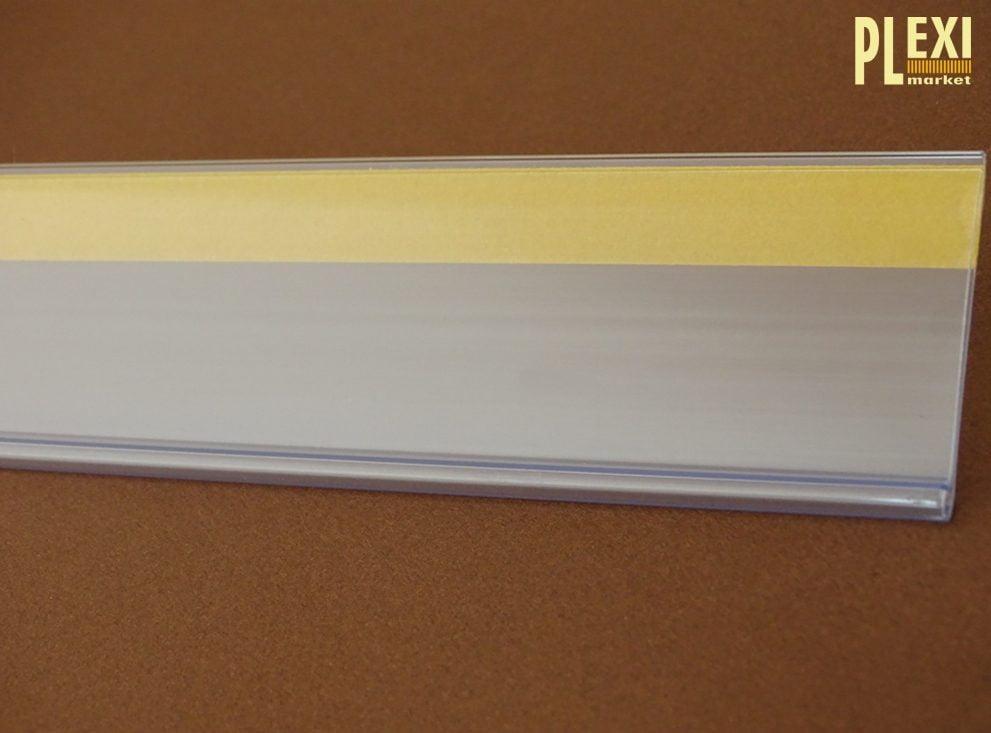 Șină de pret universala cu banda adeziva