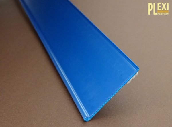 Șină de preț autoadezivă DBR-albastru