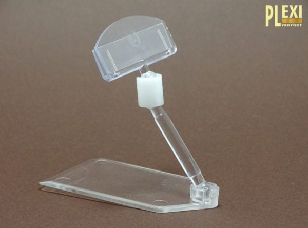 Suport etichete preț cu tijă și talpă rectangulară