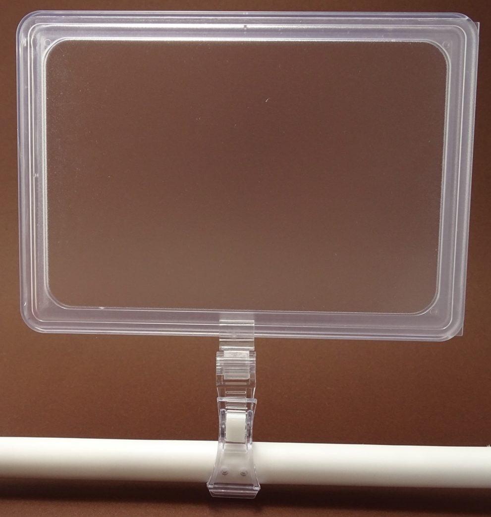 Rama plastic transparenta cu suport clama