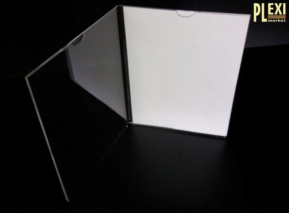 Suport plexiglas pentru meniu tip carte