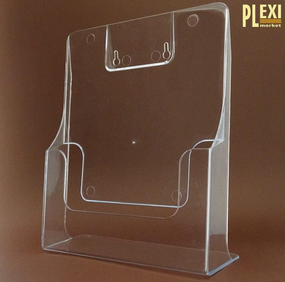 Suport pliante A4 de perete realizat din plexiglas
