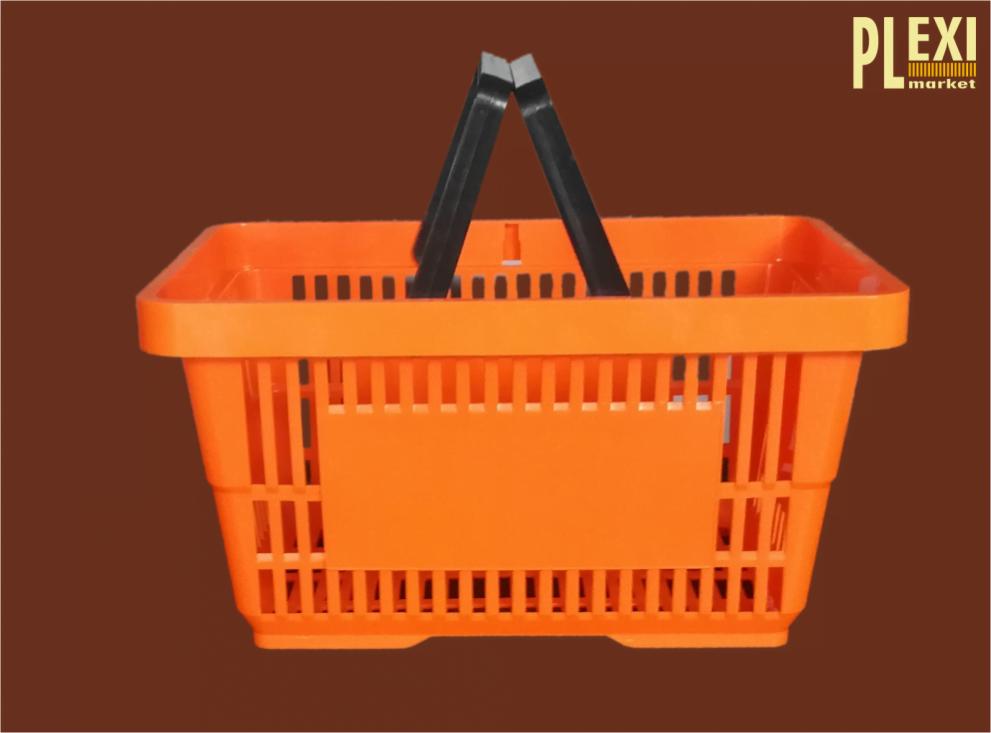 Cos plastic autoservire cu manere pentru magazine si supemarket