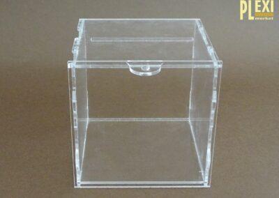 Cub plexiglas donații
