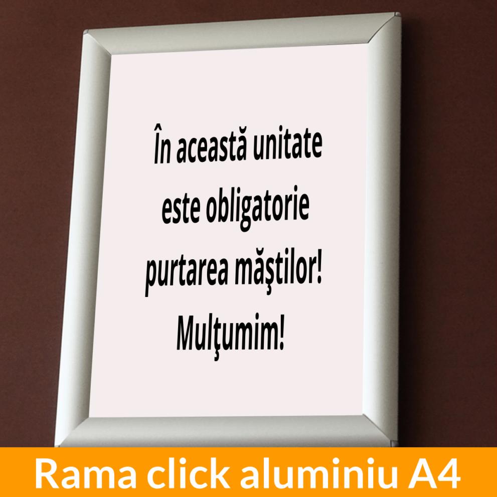 Rama click aluminiu A4